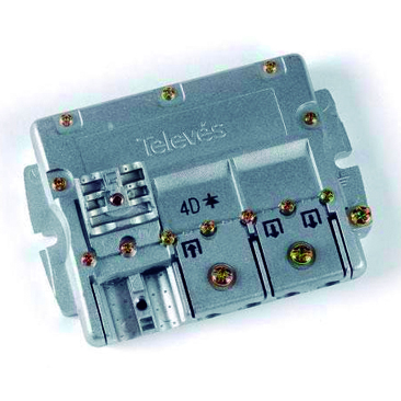 "TELEVES 543802 TELEVES REPARTIDOR 5..2400MHz ""EasyF"" 5D 10/9,5 dB"