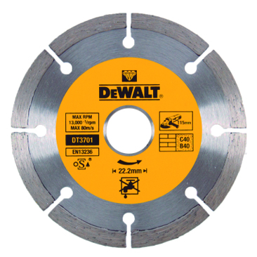 DEWALT DT3701 DISC DE DIAMANT PER MATERIALS CONSTRUCCIO 115x22,23mm