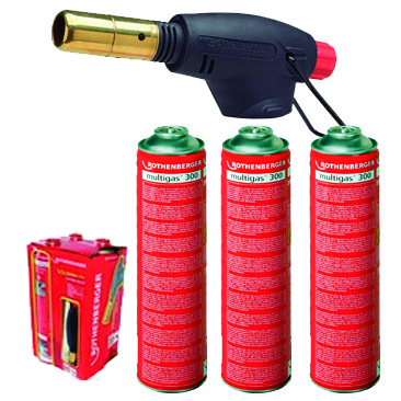 ROTHENBERGER P00555516 PROMO KIT ROFIRE (3 MULTIGAS300 + SOPLET)