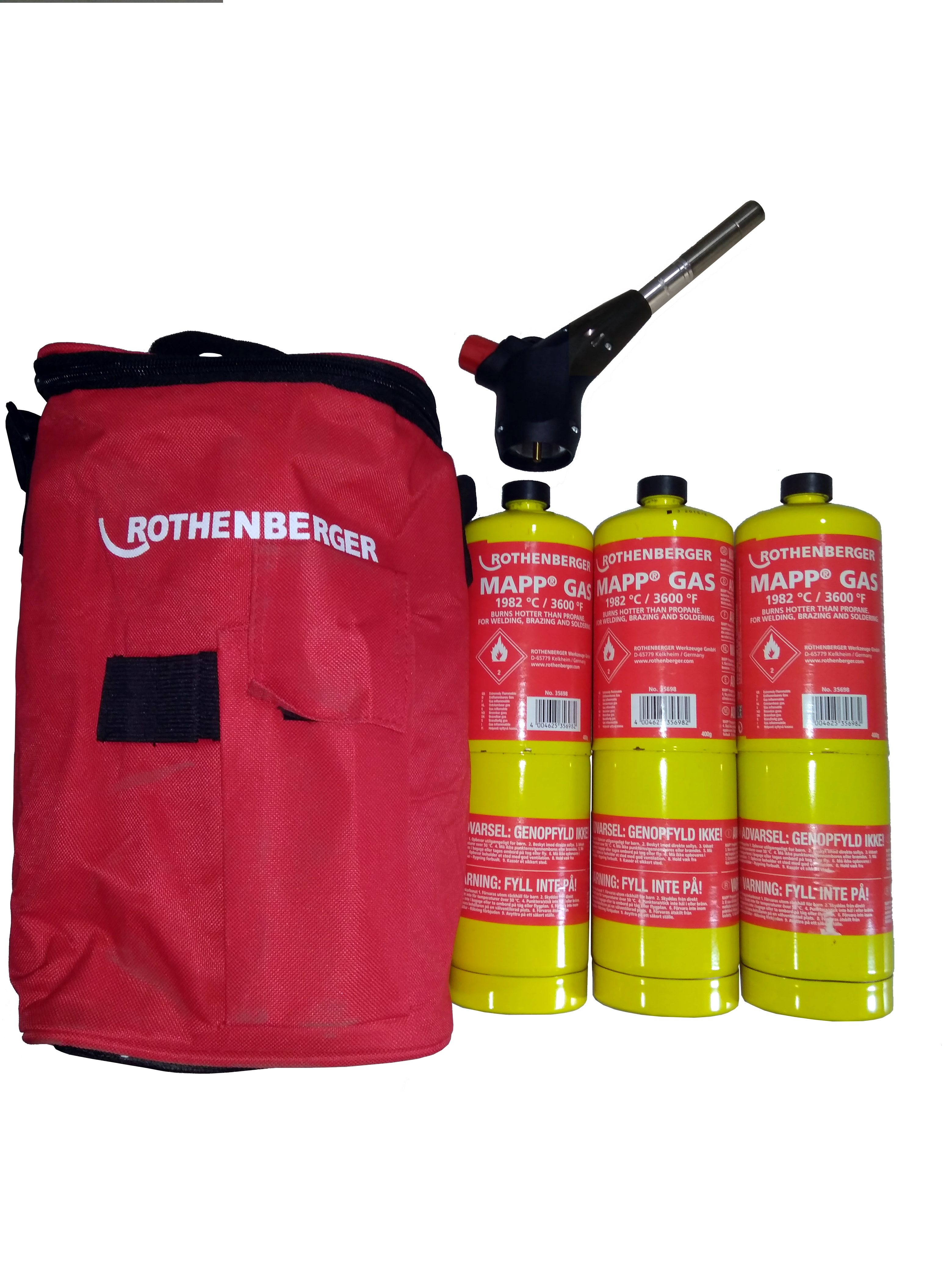 ROTHENBERGER P02548116 PROMO KIT POWER-FIRE (3 GAS MAPP + SOPLET